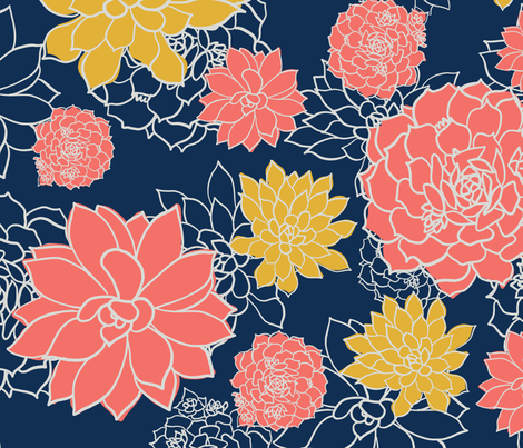 SUCCULENT-GARDEN-spoonflower-3600x3600 fabric by marbim on Spoonflower - custom fabric