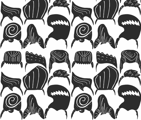 Pompadour perfection  fabric by ruth_robson on Spoonflower - custom fabric