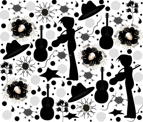 Rock-a-billy on the Farm fabric by gracelillydesigns on Spoonflower - custom fabric