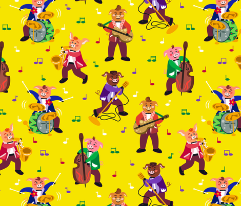 CY. The Rockabilly challenge. Rockhlyky band fabric by cotsy_yard on Spoonflower - custom fabric