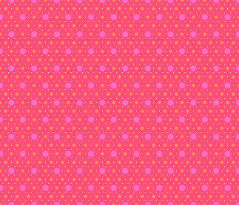 flamingo polka dots fabric by dempsey on Spoonflower - custom fabric