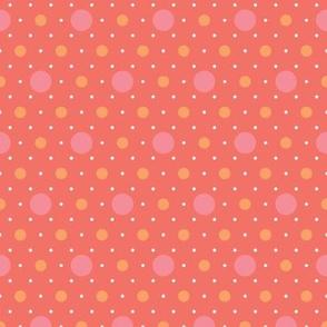 flamingo polka dots