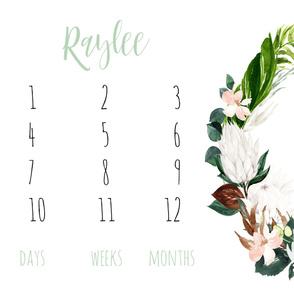 Paradise Florals Baby Milestone Blanket