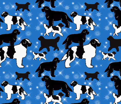 newfs and stars fabric fabric by dogdaze_ on Spoonflower - custom fabric
