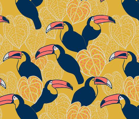 Toucan fabric by mariakentstudio on Spoonflower - custom fabric