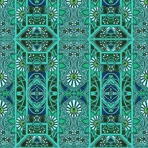 Teal Green Victoriana