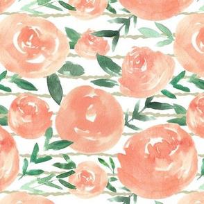 Sweet Peach and Neutral Stripes