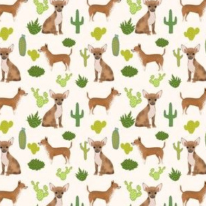 SMALL - chihuahua dog sweet teacup cute dogs short haired chihuahua dogs cactus trendy neutral kids baby dog fabric