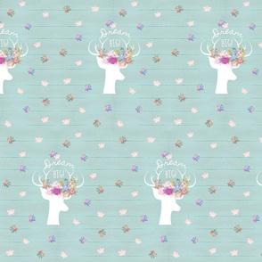 Dream Big rustic deer 2 floral meadow -  MED7