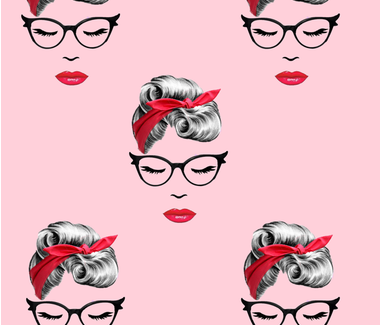 pink face fabric by tayloreddecor on Spoonflower - custom fabric