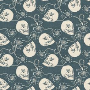 Skulls and Anemones {Grey}