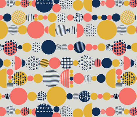 Party Circles fabric by happychinchilla on Spoonflower - custom fabric