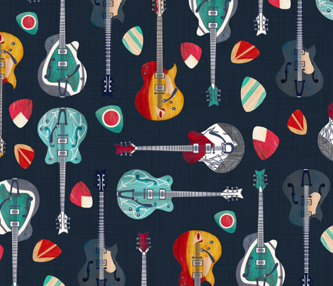 Rockabilly Rock fabric by gingerlique on Spoonflower - custom fabric