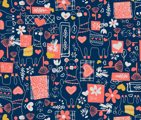 Llamas fabric by sarah_treu on Spoonflower - custom fabric