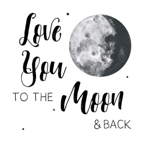 "18"" Love you to the moon and back / 6 to 1 yard of minky"