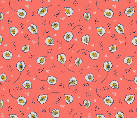 sea oat pattern tile for SF fabric by floradore on Spoonflower - custom fabric