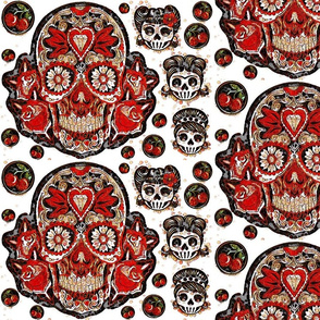 Cherry Bubble Sugar Skulls