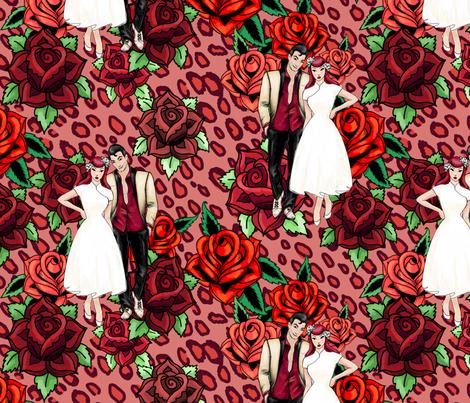 Rockabilly Romance fabric by beesocks on Spoonflower - custom fabric