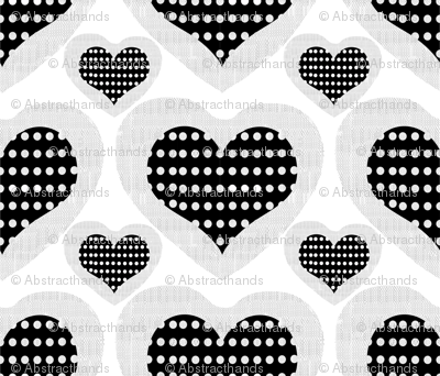 Fishnet hearts