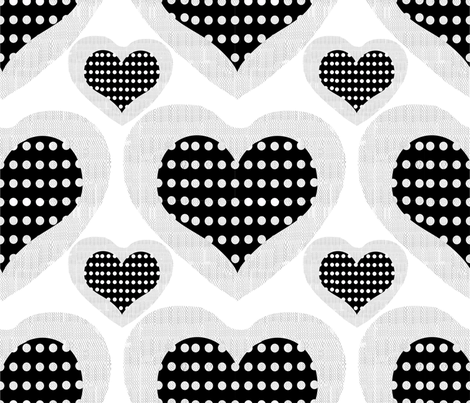 Fishnet hearts fabric by abstracthands on Spoonflower - custom fabric