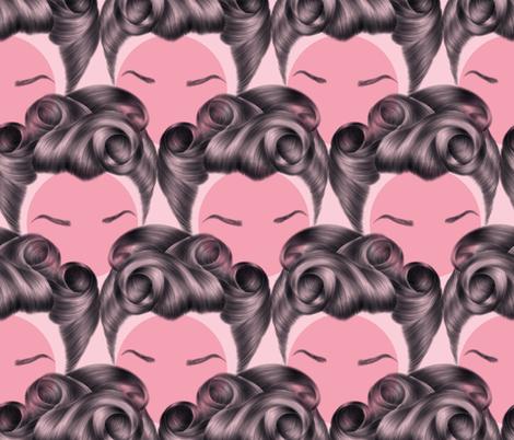 Rockabilly Hair fabric by anxelaruxa on Spoonflower - custom fabric