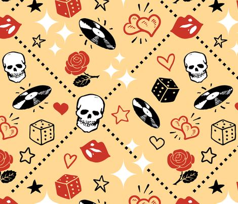 Rockabilly Bliss fabric by kimbliss on Spoonflower - custom fabric
