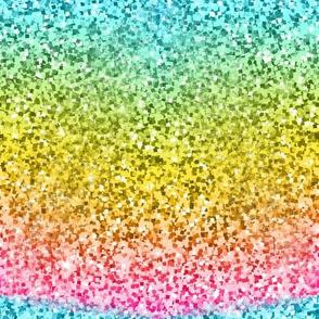 Multi Aqua/Green/Pink/Yellow confetti glitter