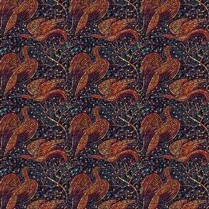 Tiny Mosaic Cranes