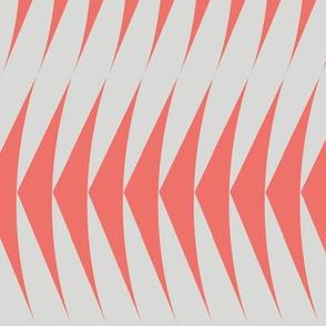 Diagonal Geo living coral/ grey