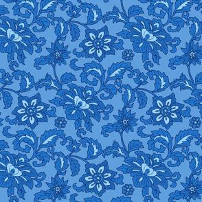 Cobalt blue floral