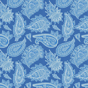 Paisley in blue and white