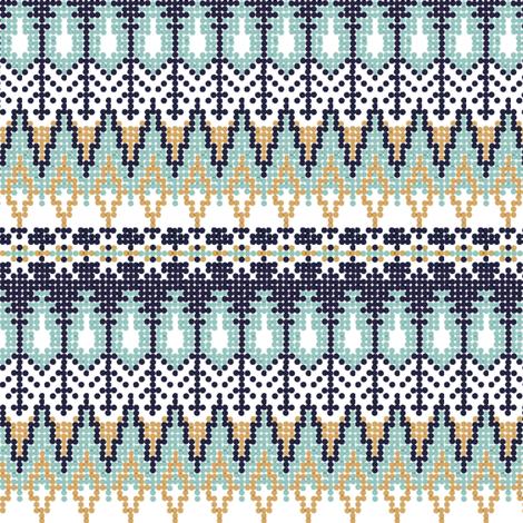 Bistort Yoke Cool Tone fabric by cspainhower on Spoonflower - custom fabric