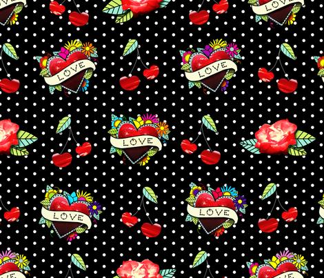 Rockabilly Tats fabric by saint_shores on Spoonflower - custom fabric