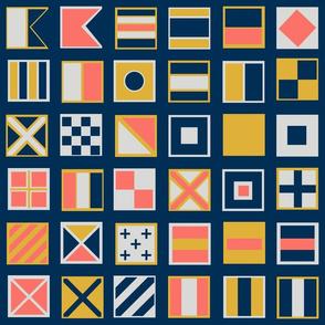 Nautical Flags Square