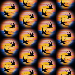 SWALLOWS SUNSET DANCE