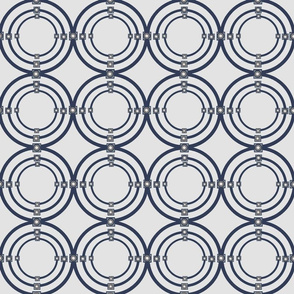 Sapphire Blue and taupe triple circles cleaned 1_19