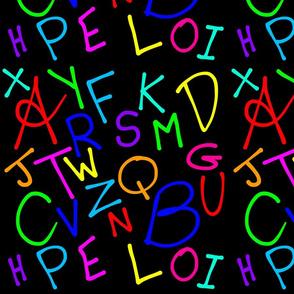 Alphabet Soup (large) - black