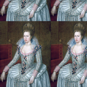 Queen Elizabeth 1 inspired princesses Queens renaissance Tudor big lace ruff collar baroque pearls white pink gown beauty Elizabethan era 16th century 17th century historical embroidery ornate royal portraits beautiful woman lady necklaces jewelry Victori