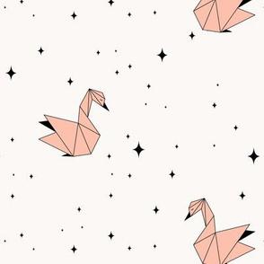 Origami Swan Stars - Pink