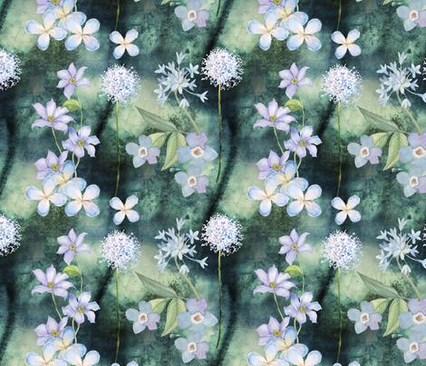 Meadow Blue fabric by floramoon on Spoonflower - custom fabric