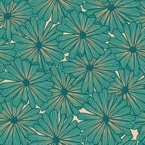 Bohemian Green Flowers