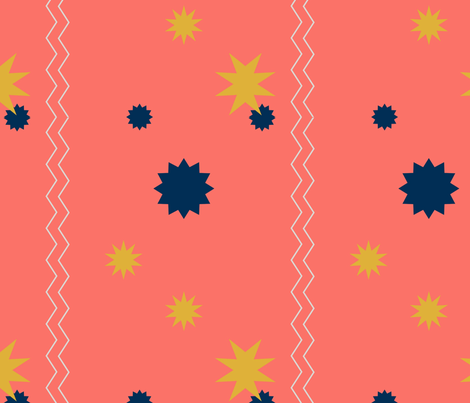 Coral  fabric by bent_line_designs on Spoonflower - custom fabric