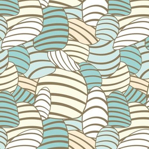 oval shapes with stripes in soft colors
