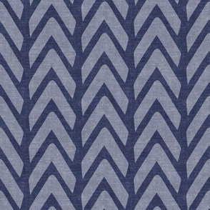 Organic Chevron - Safari Wholecloth Navy C19BS