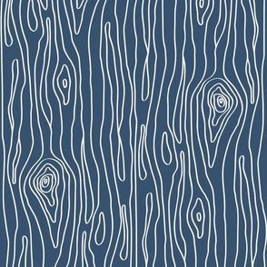 Deep Blue Woodgrain