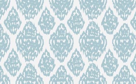 Pale Blue Ikat Medallion Wallpaper Jenlats Spoonflower