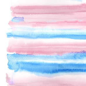 """Watercolour #7 - pink and blue - 42"""""""