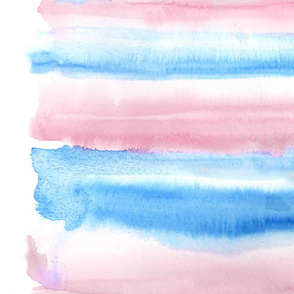 """Watercolour #7 - pink and blue - 56"""""""