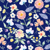 Lilac - NAVY Blue