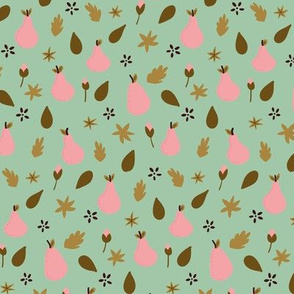 """9"""" Pears in Green and Pink"""